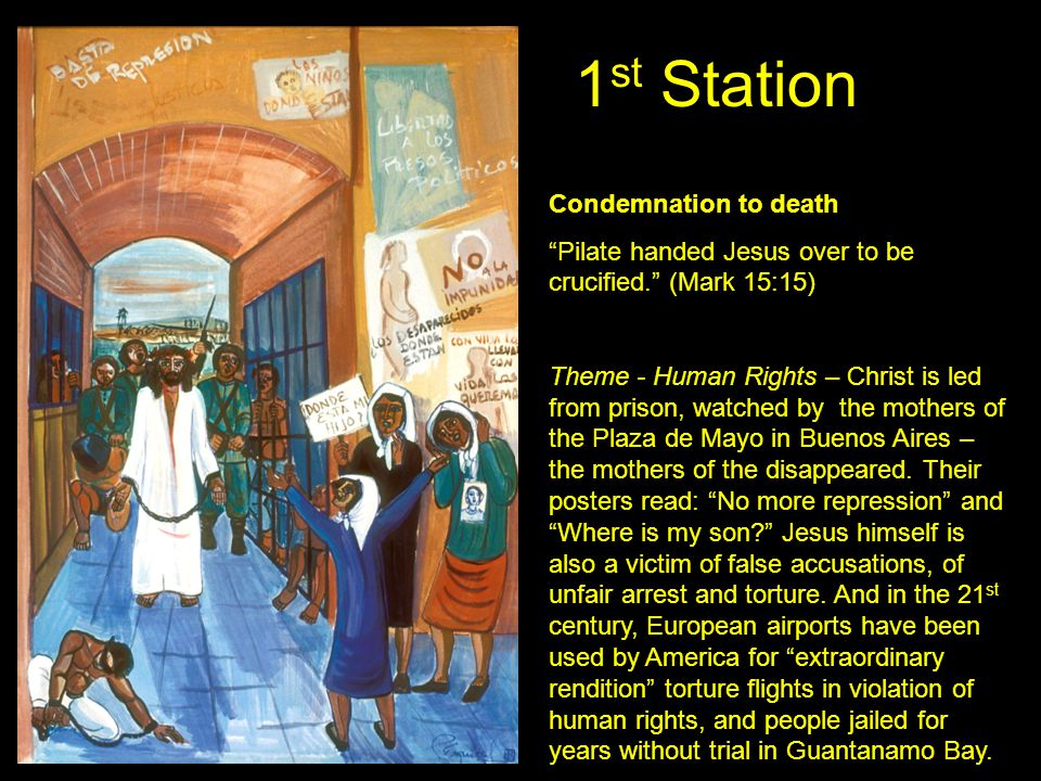 1st Station Condemnation to death