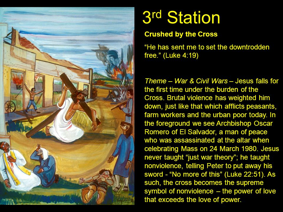 3rd Station Crushed by the Cross