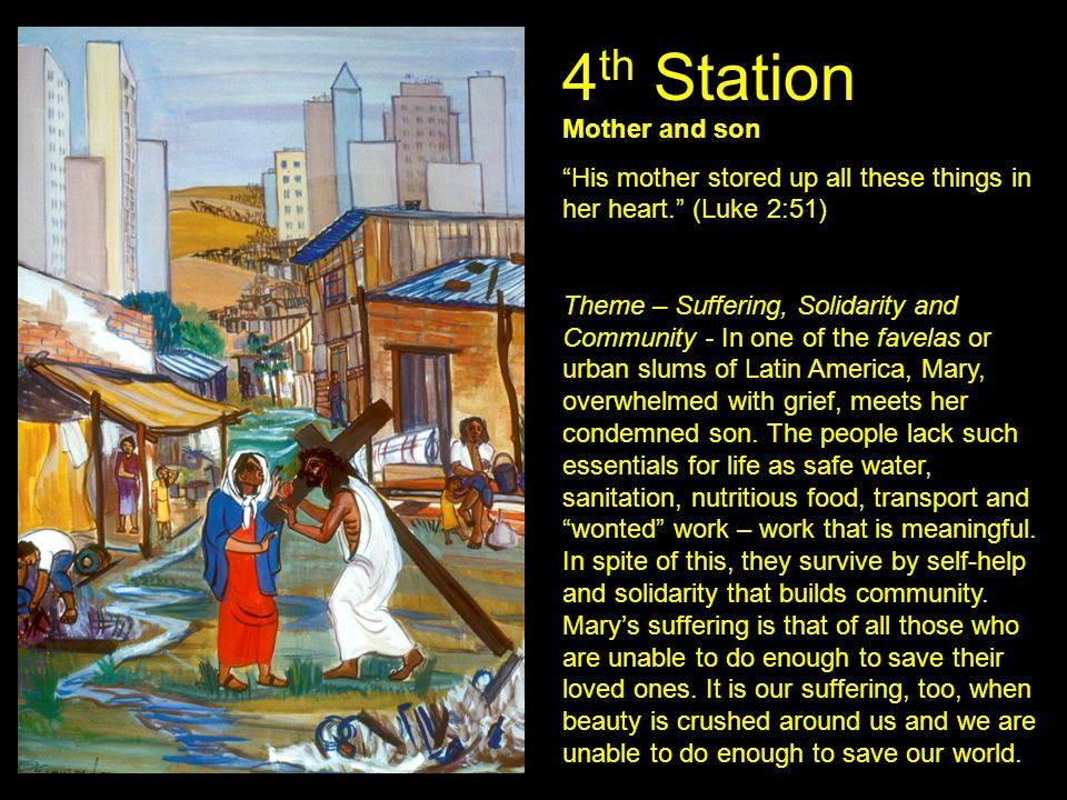 4th Station Mother and son