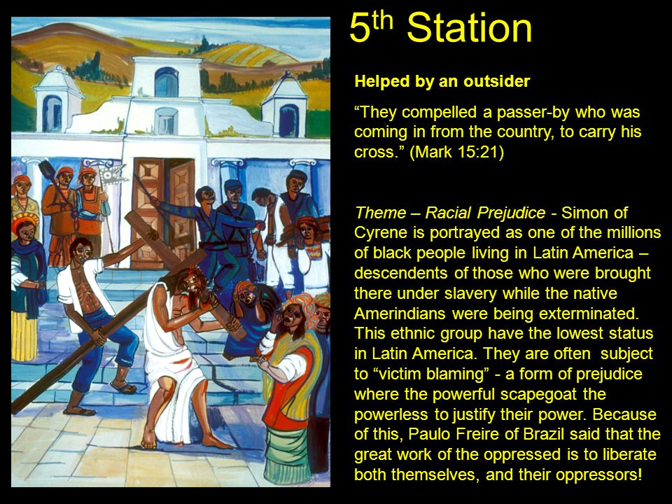 5th Station Helped by an outsider