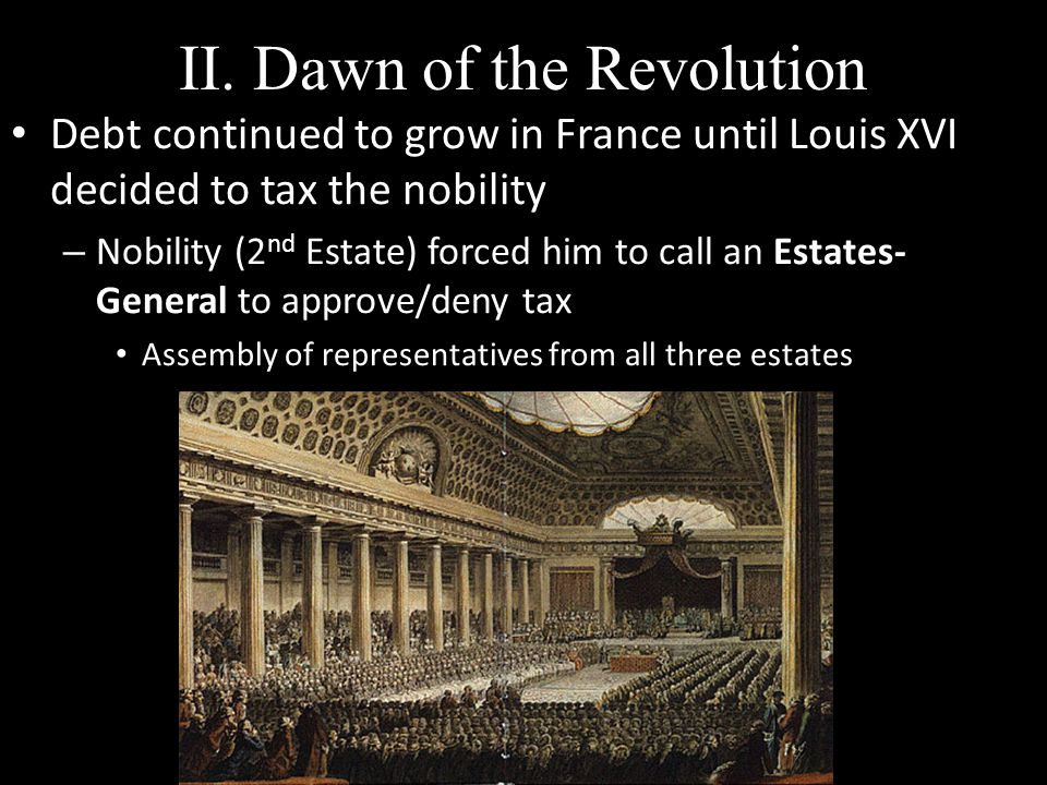 II. Dawn of the Revolution