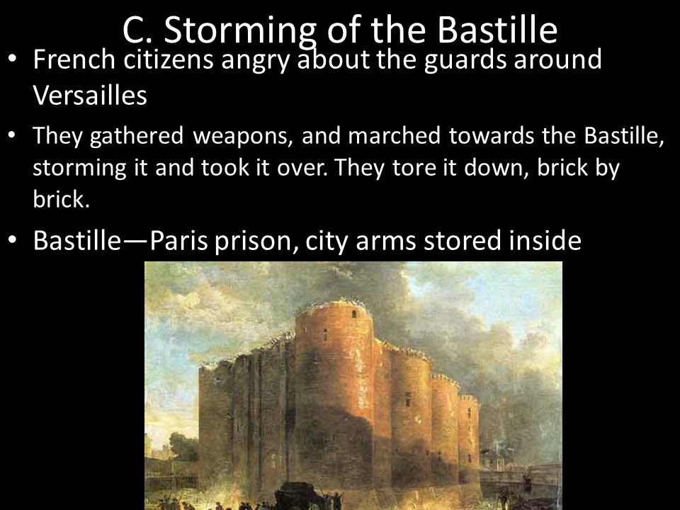 C. Storming of the Bastille