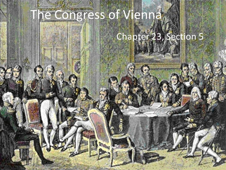 The Congress of Vienna Chapter 23, Section 5