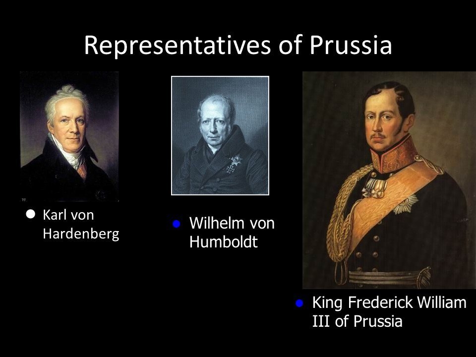 Representatives of Prussia