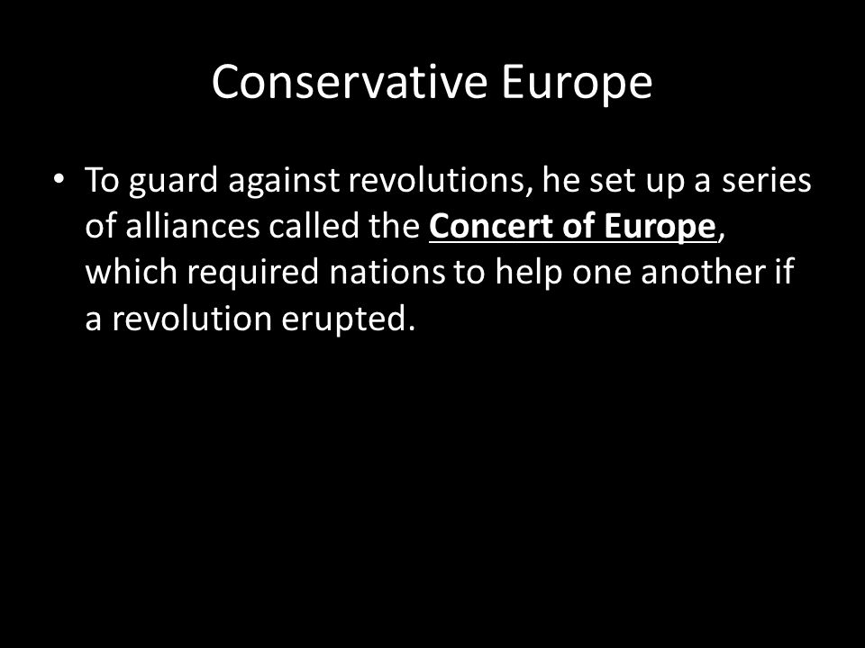 Conservative Europe