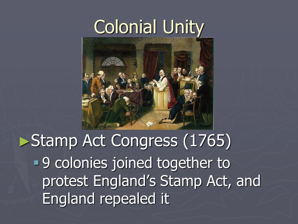 Colonial Unity Stamp Act Congress (1765)