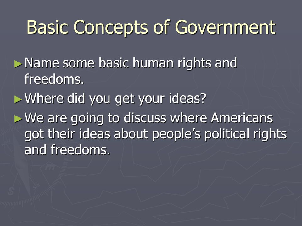Basic Concepts of Government