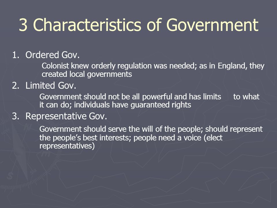 3 Characteristics of Government