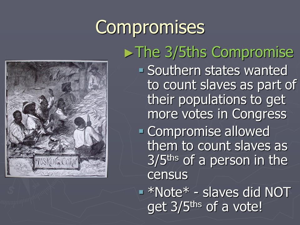 Compromises The 3/5ths Compromise