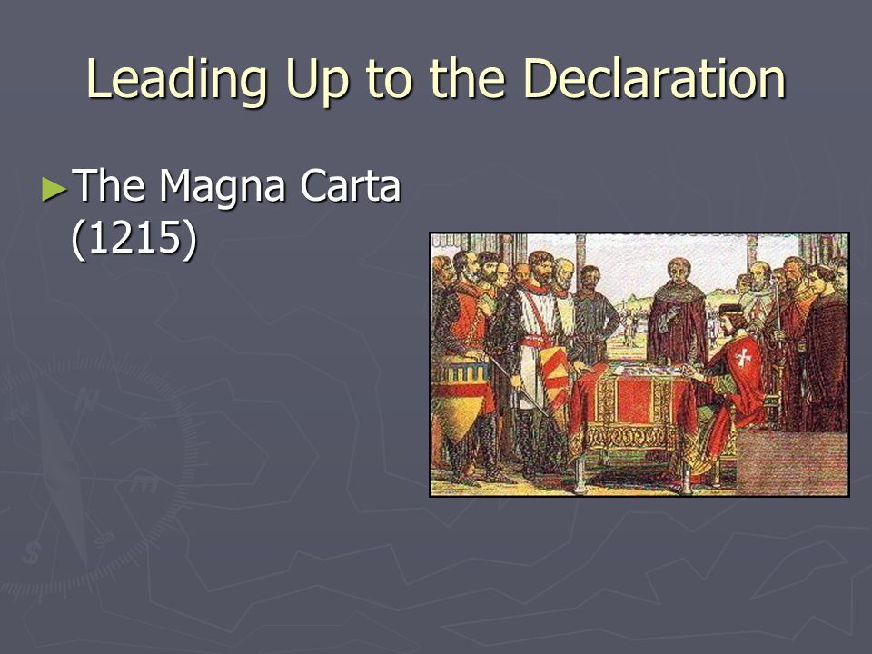 Leading Up to the Declaration