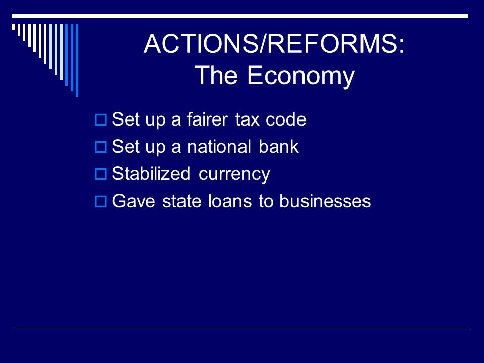 ACTIONS/REFORMS: The Economy