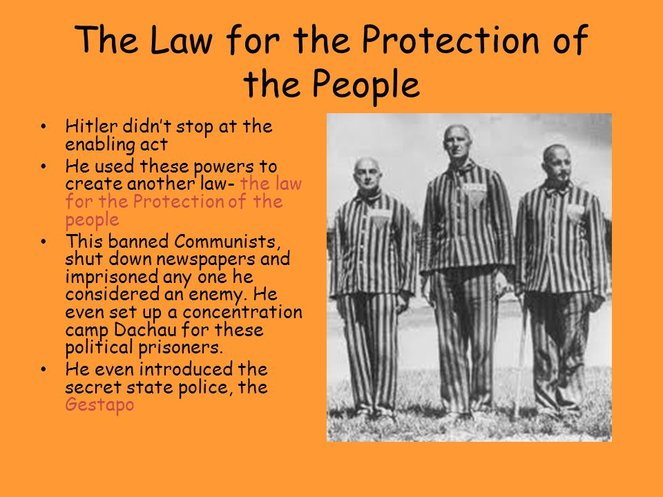 The Law for the Protection of the People