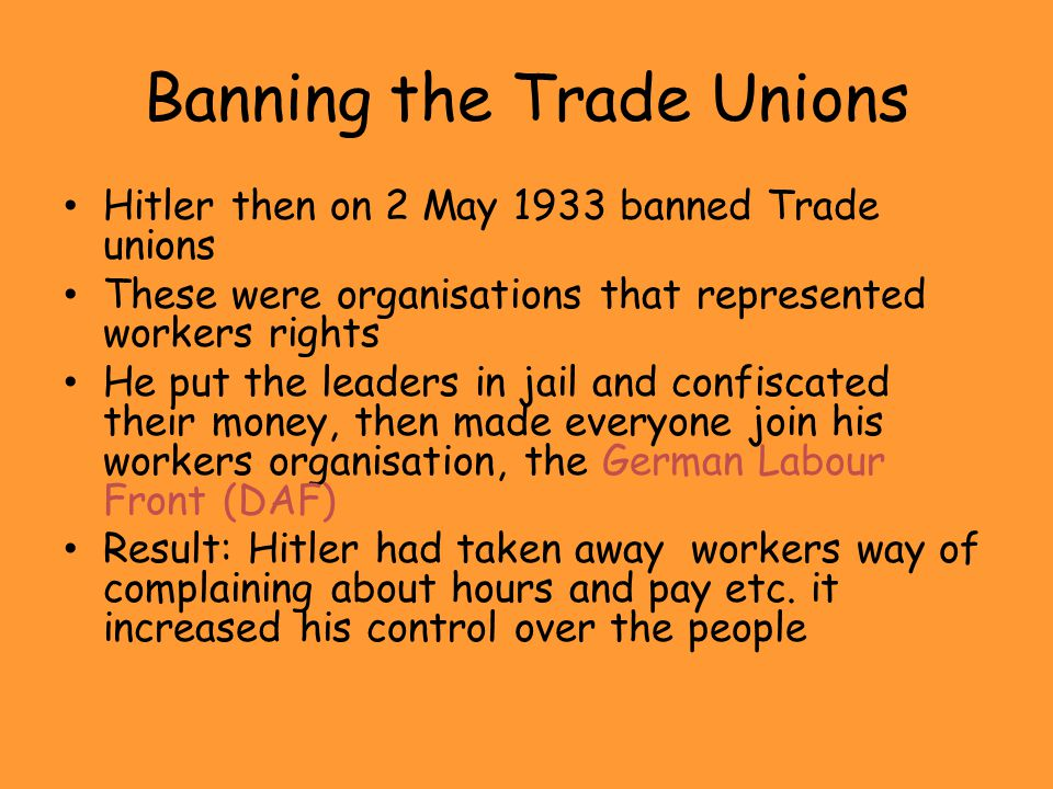 Banning the Trade Unions