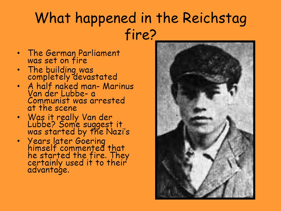 What happened in the Reichstag fire