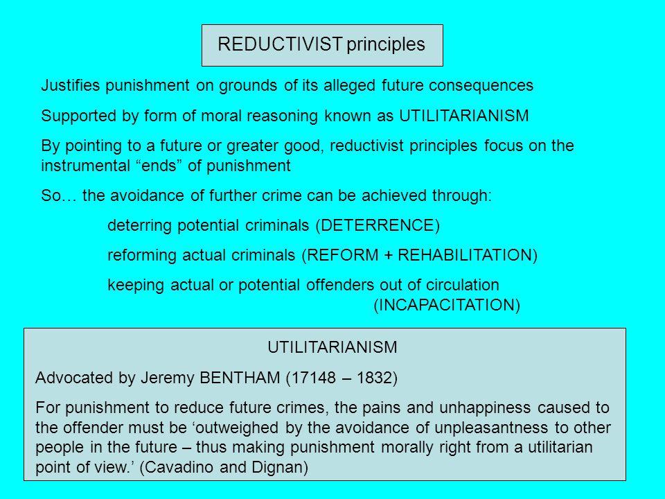 REDUCTIVIST principles