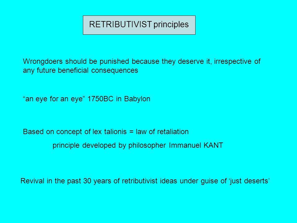 RETRIBUTIVIST principles