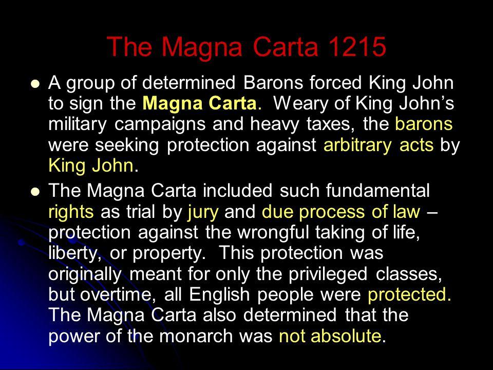 The Magna Carta 1215