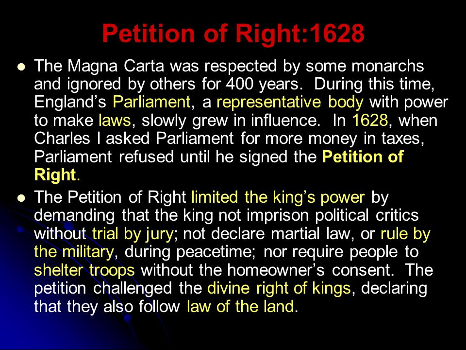 Petition of Right:1628