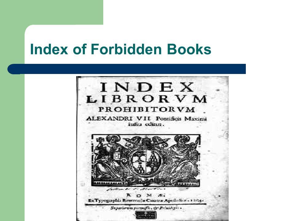 Index of Forbidden Books