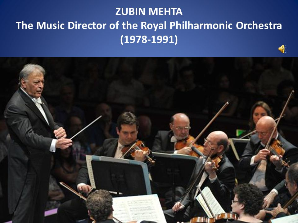 The Music Director of the Royal Philharmonic Orchestra