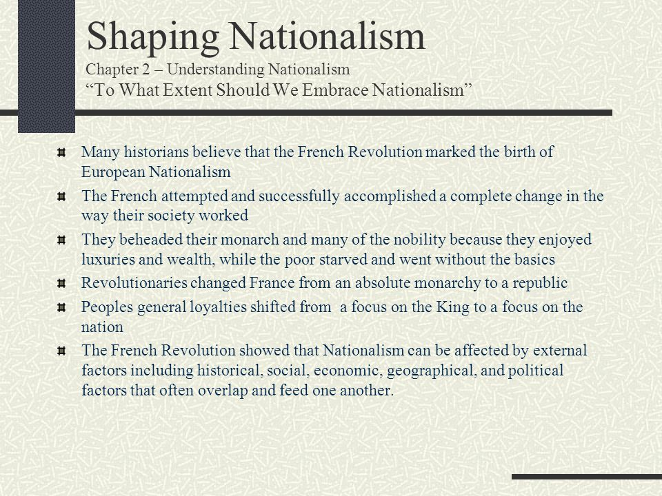 Shaping Nationalism Chapter 2 – Understanding Nationalism To What Extent Should We Embrace Nationalism