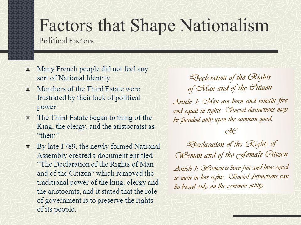 Factors that Shape Nationalism Political Factors