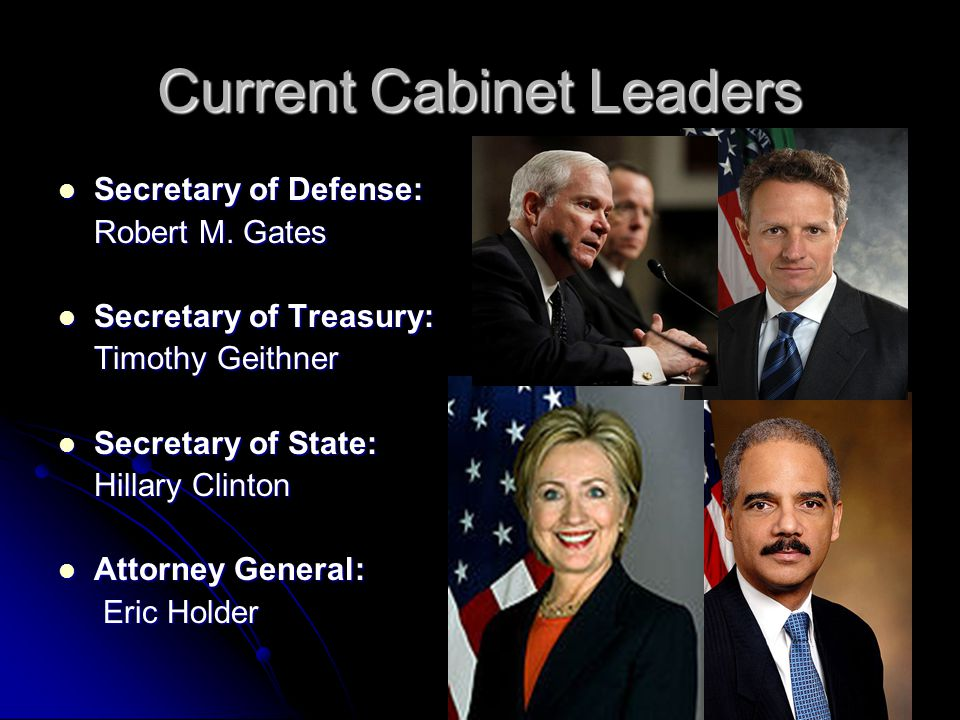 Current Cabinet Leaders