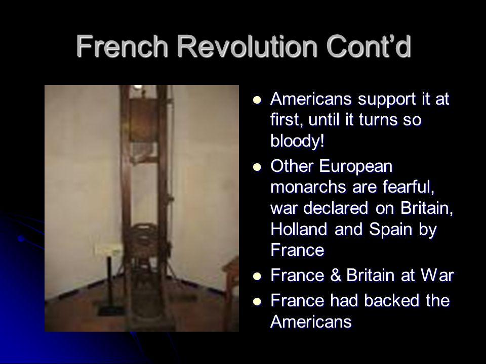 French Revolution Cont'd