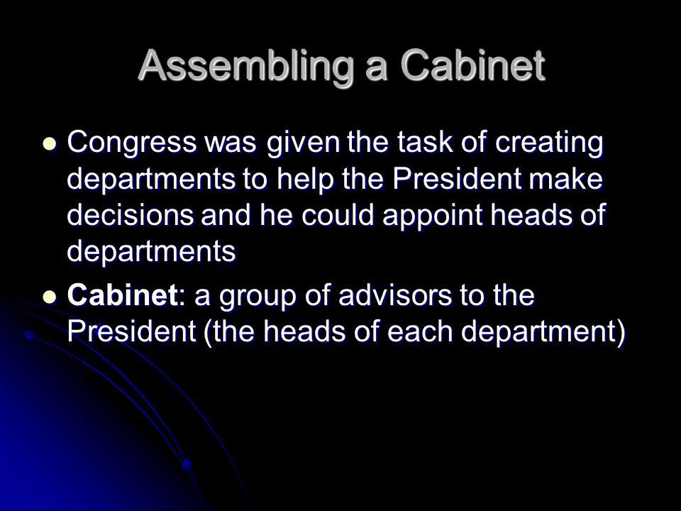 Assembling a Cabinet