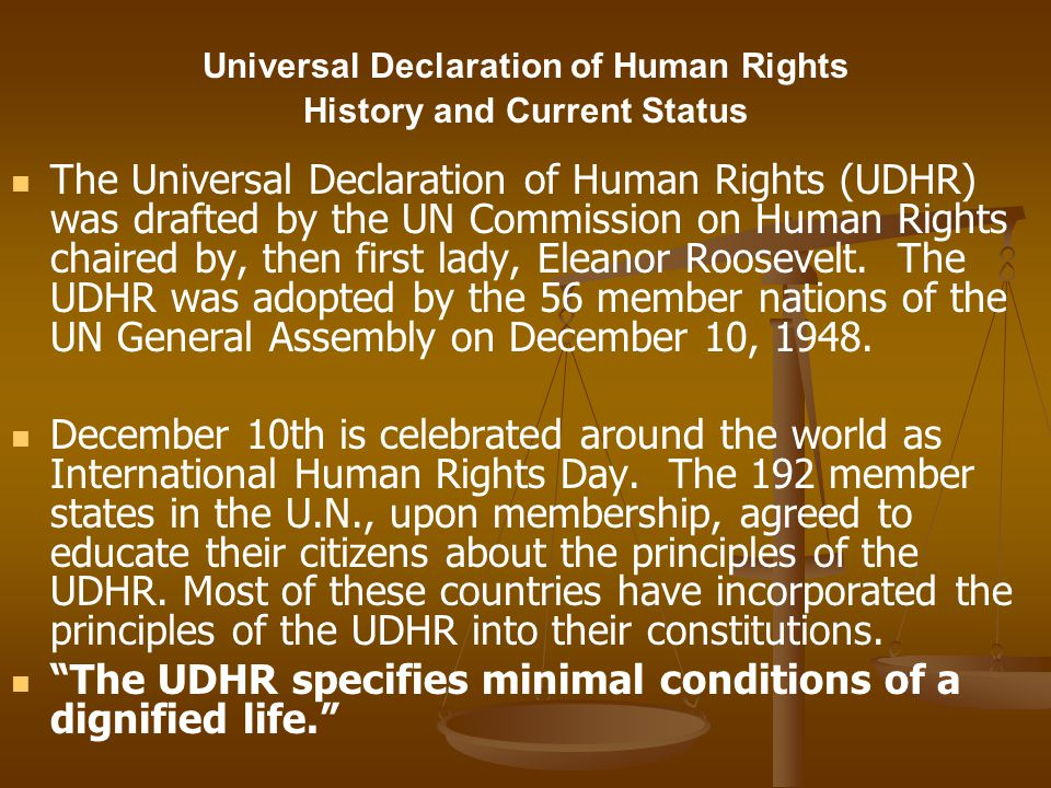 Universal Declaration of Human Rights History and Current Status