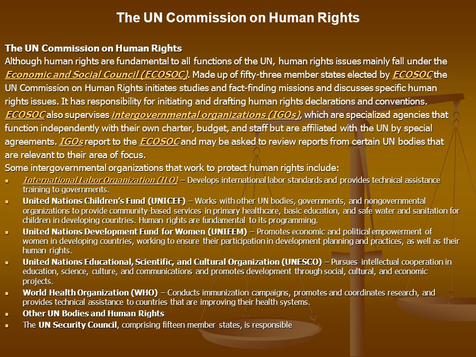 The UN Commission on Human Rights