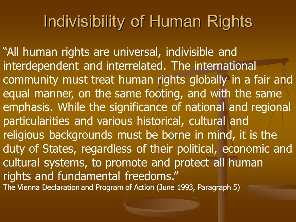 Indivisibility of Human Rights