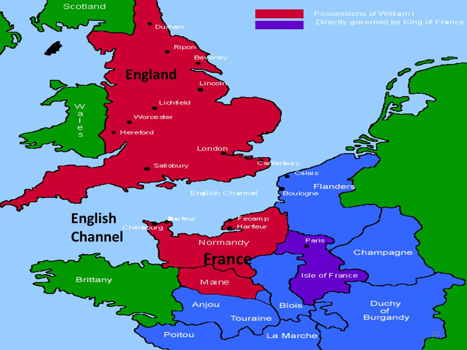 England English Channel France 10
