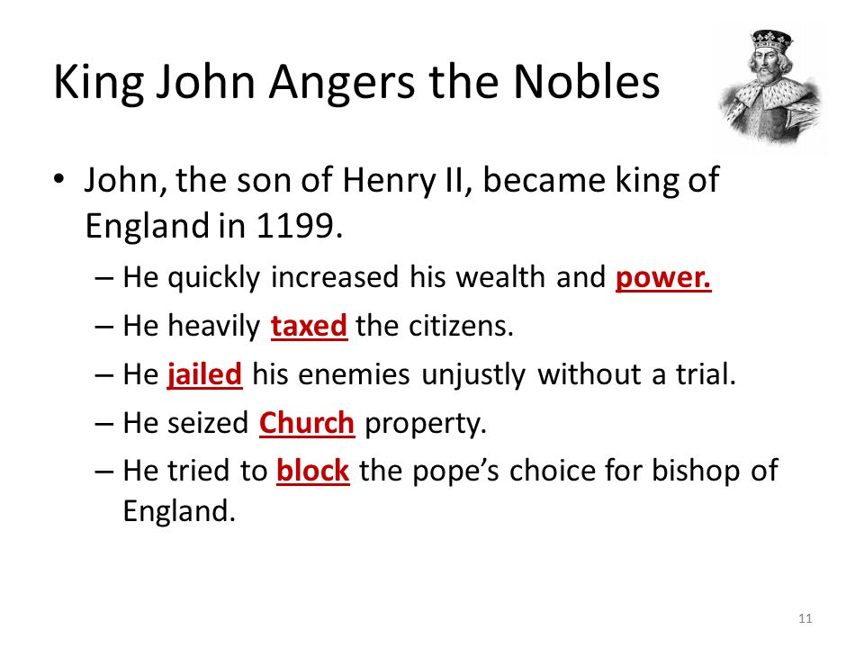 King John Angers the Nobles