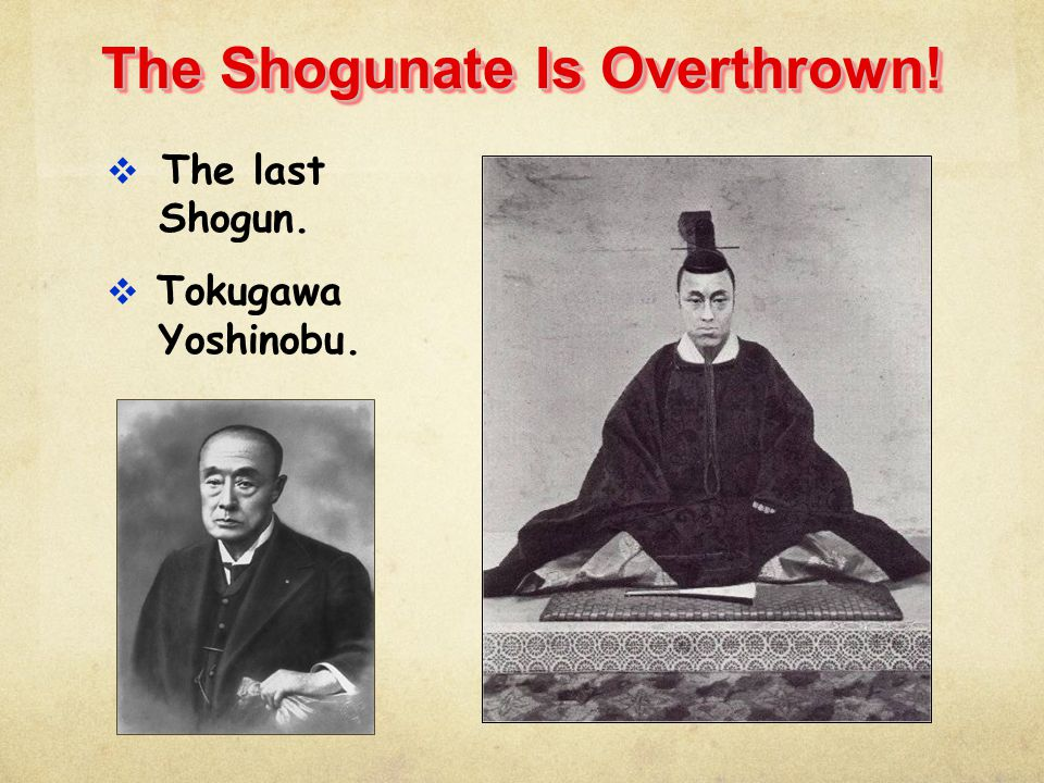 The Shogunate Is Overthrown!