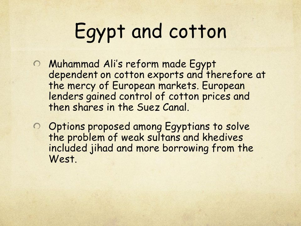 Egypt and cotton
