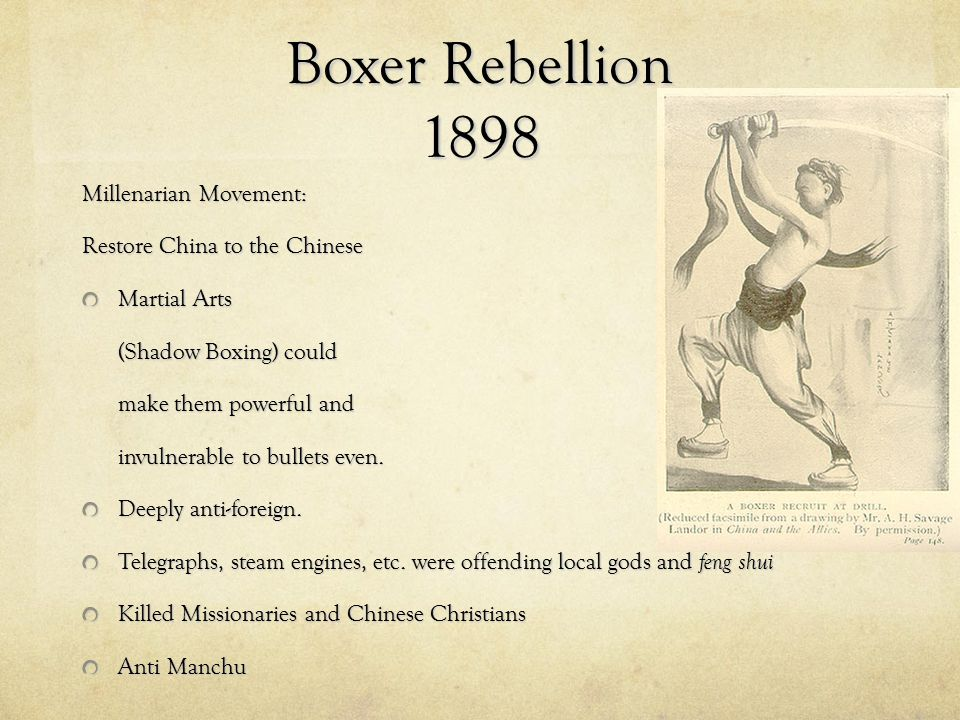 Boxer Rebellion 1898 Millenarian Movement: