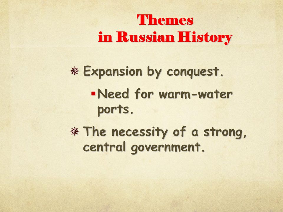 Themes in Russian History