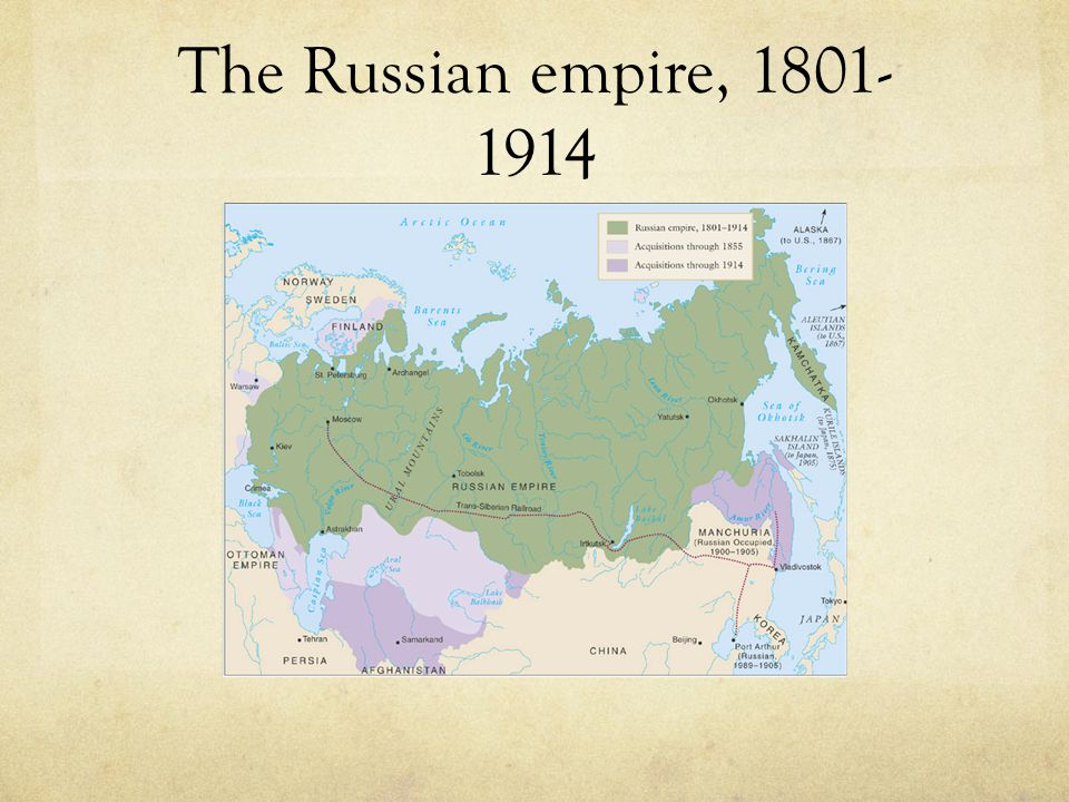 The Russian empire, 1801-1914