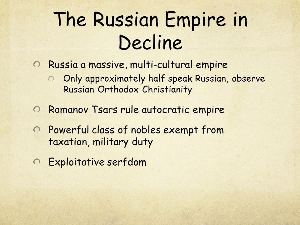 The Russian Empire in Decline