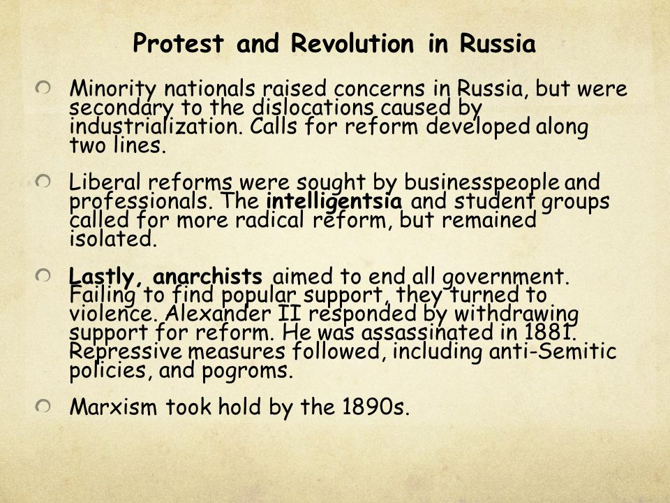 Protest and Revolution in Russia