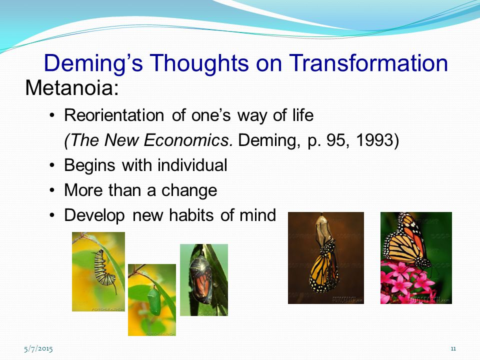 Deming's Thoughts on Transformation
