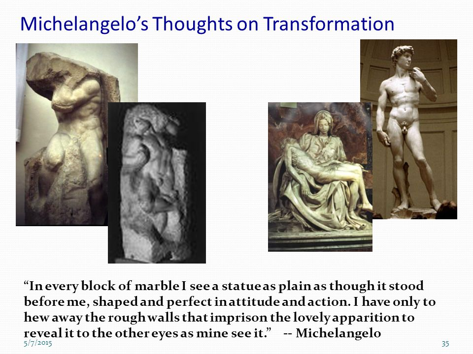 Michelangelo's Thoughts on Transformation