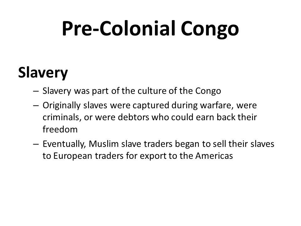 Pre-Colonial Congo Slavery