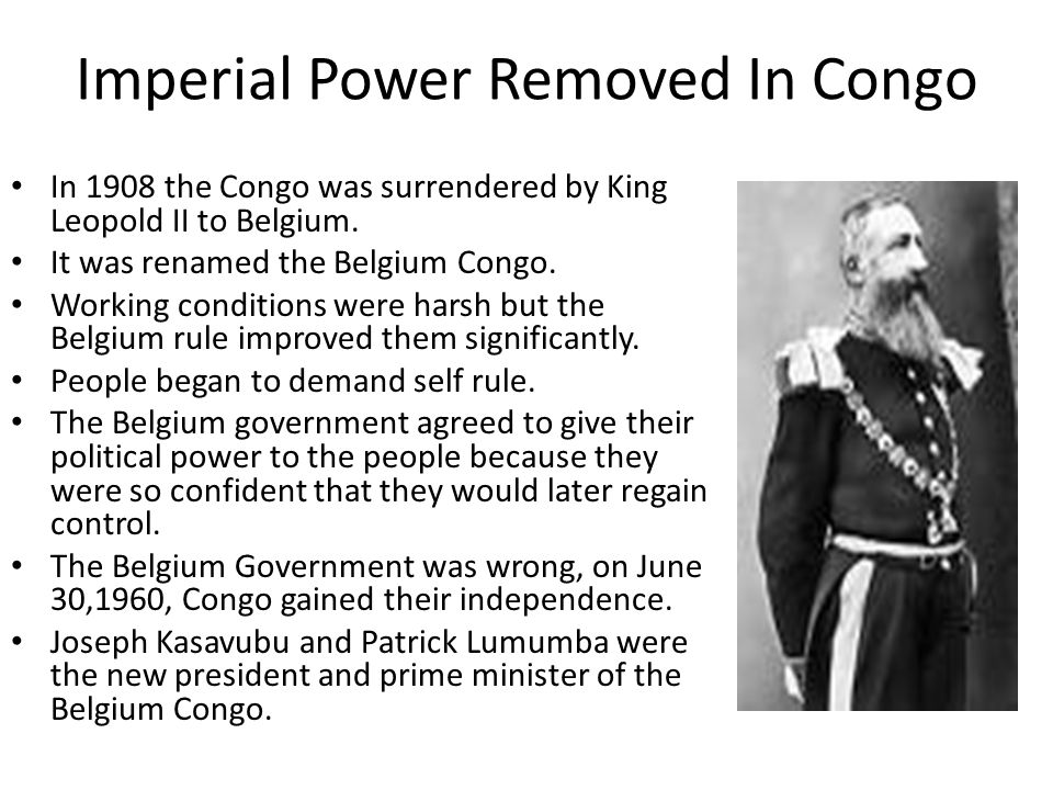 Imperial Power Removed In Congo