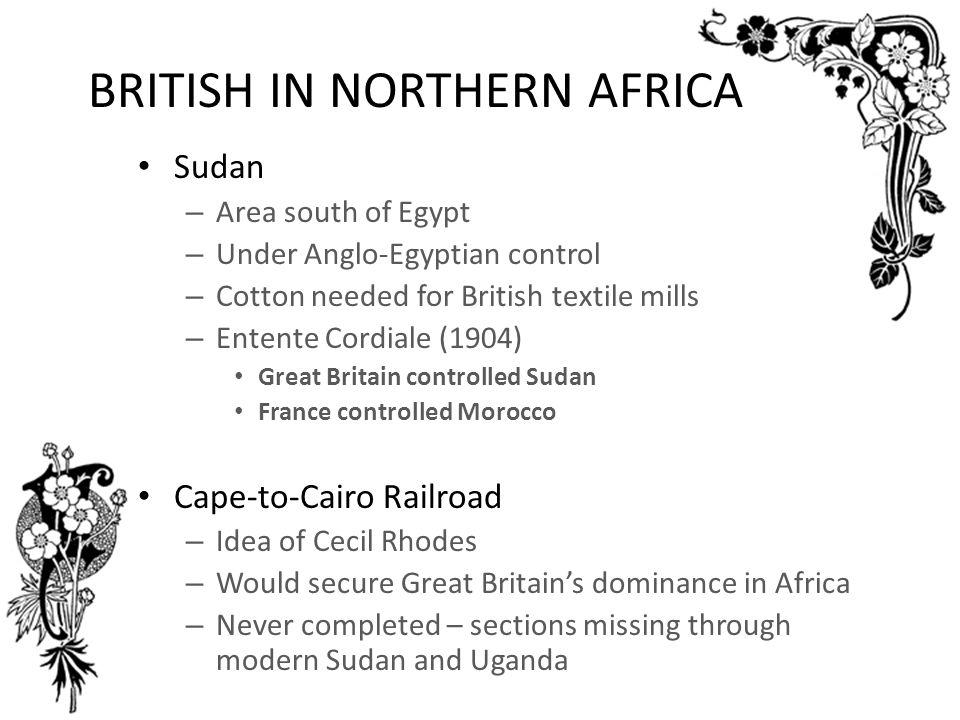 BRITISH IN NORTHERN AFRICA