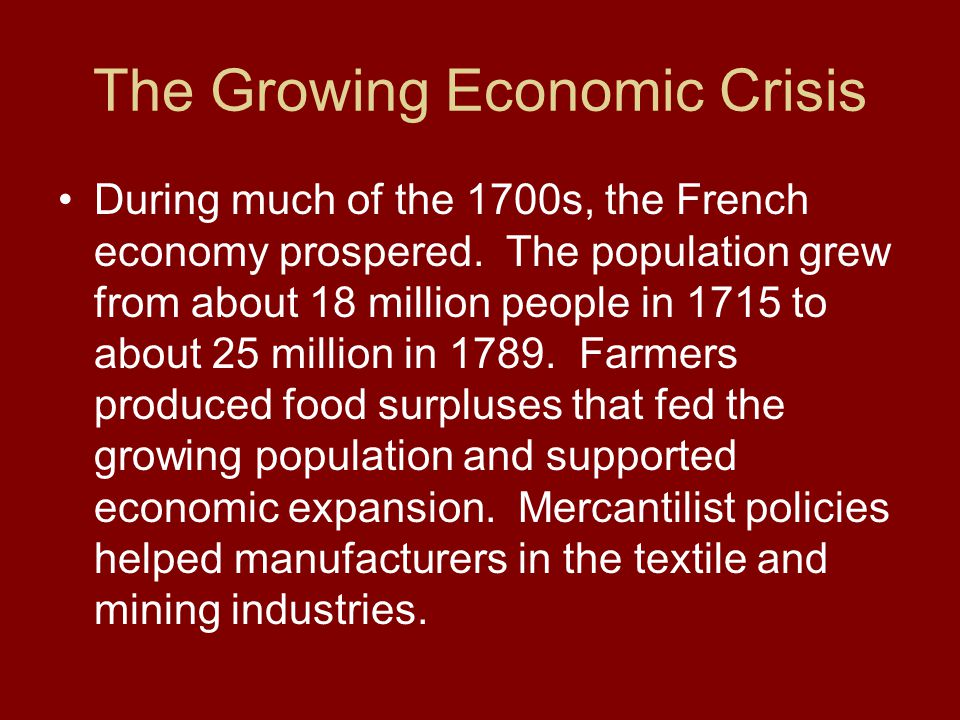The Growing Economic Crisis