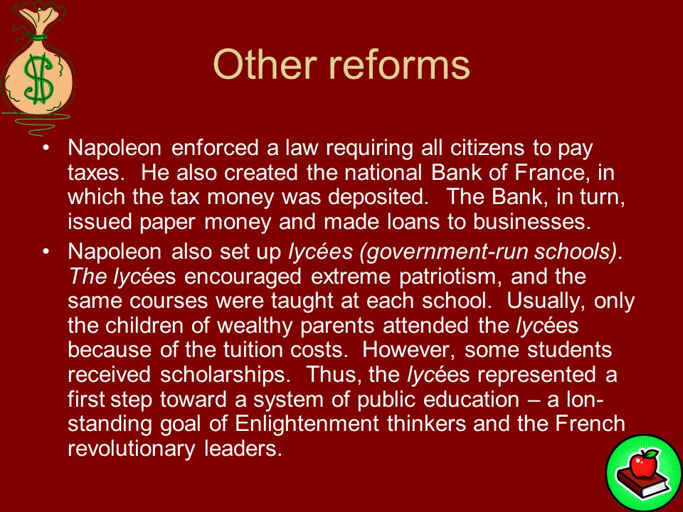 Other reforms