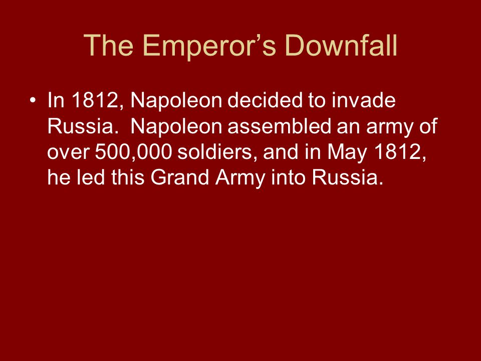 The Emperor's Downfall
