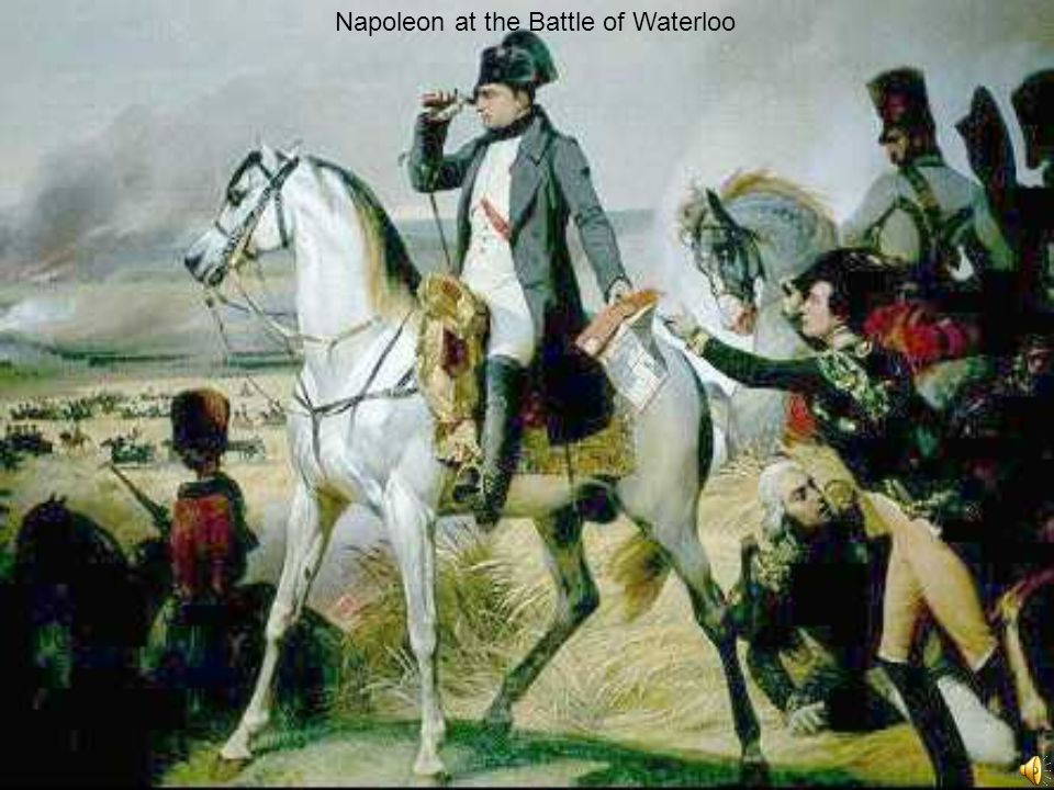 Napoleon at the Battle of Waterloo